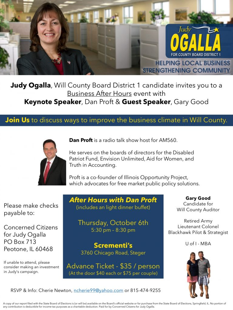 Join Judy for Business After Hours Event